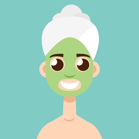 clay mask: mask Spa Skin icon