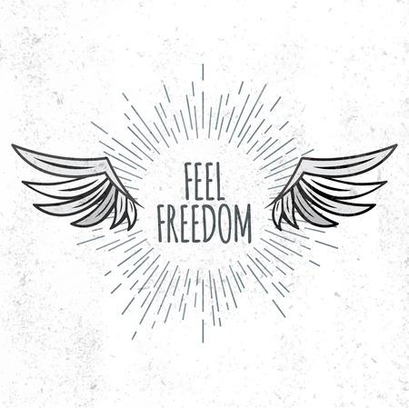 feel: Feel Freedom lettering Illustration