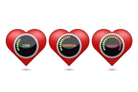 high blood pressure: High blood pressure digital set Illustration