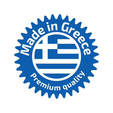 made in greece stamp: Made in Greece logo or label