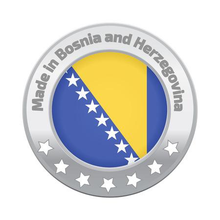 herzegovina: Made in Bosnia and Herzegovina logo Illustration