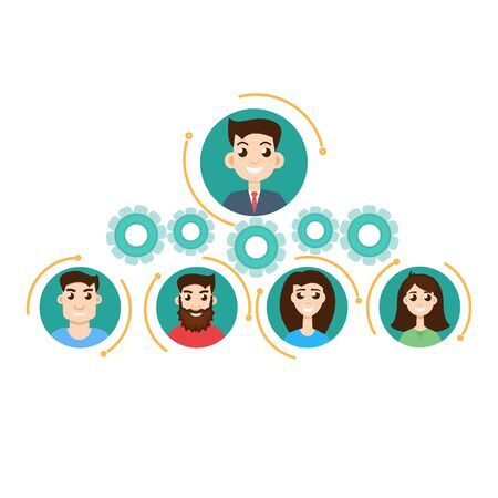 jerarquia: concepto de jerarquía de la oficina