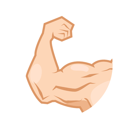 muscular: muscular arm Illustration