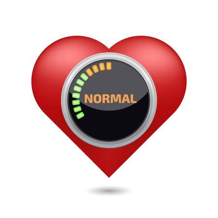 Normal blood pressure digital concept