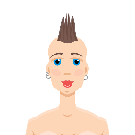 subculture: Mohawk hairstyle girl