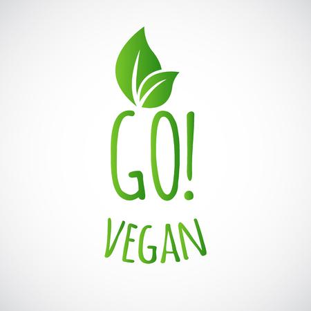 Go Vegan Logo oder Bezeichnung
