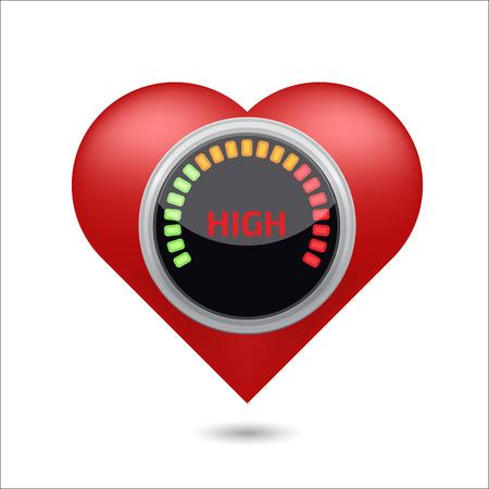 high blood pressure: High blood pressure digital concept