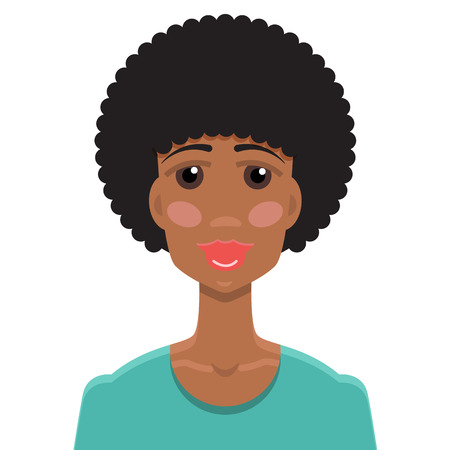 african american woman: African American young woman portrait