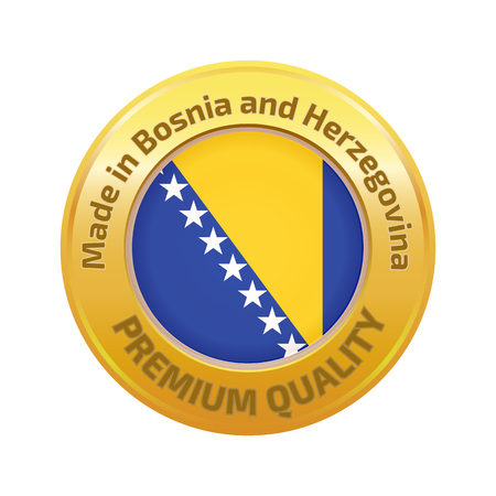 bosnia: Made in Bosnia and Herzegovina logo Illustration