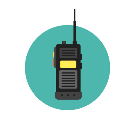 walkie talkie icon. police radio online Illustration
