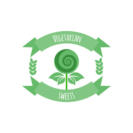 cereal bar: Vegetarian sweets icon or logo Illustration