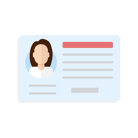 driver license: Car driver license woman Illustration