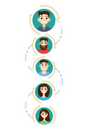 hierarchy: Office hierarchy concept Illustration
