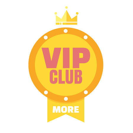 members only: VIP club logo in flat style, members only banner