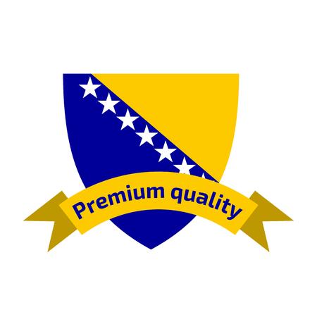 Made in Bosnia and Herzegovina logo Illustration