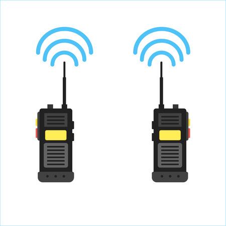 walkie talkie icon. police radio online  イラスト・ベクター素材