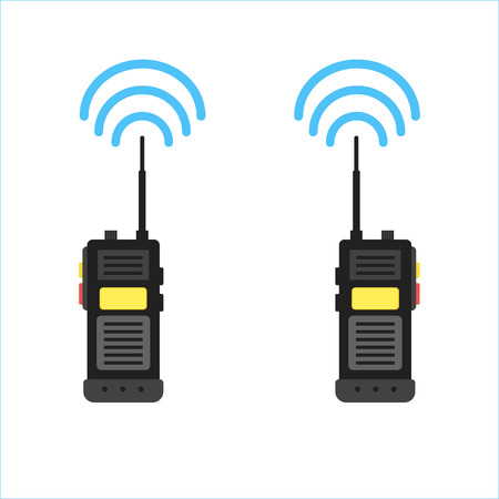 walkie talkie icon. police radio online Vectores