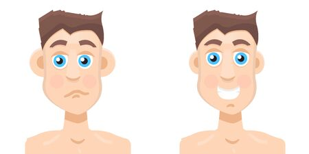 Plastic surgery man before and after, otoplasty