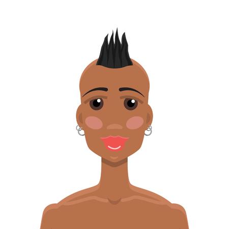 mohawk: Mohawk hairstyle African-American girl