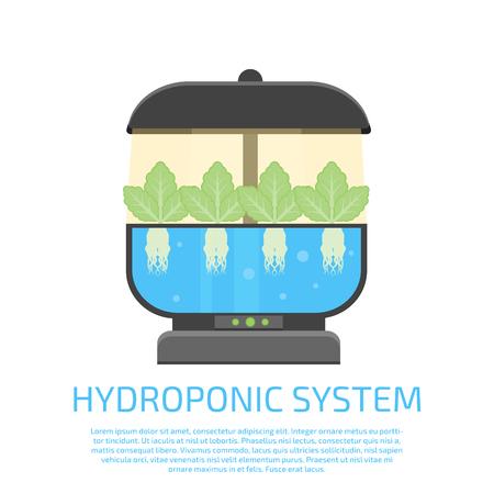 ikona systemu hydroponicznego Ilustracje wektorowe