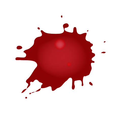 Realistic blood splatters. Red ink splatters