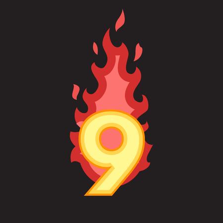 numero nueve: Flaming Número nueve