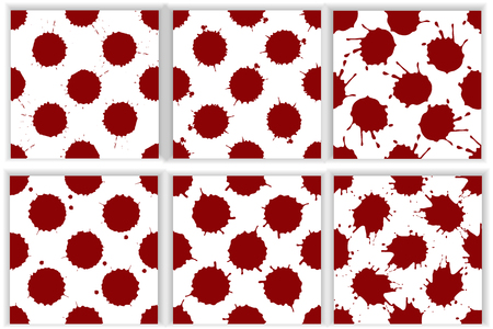 Realistic blood splatters pattern set