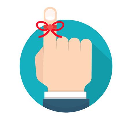Reminder string icon  イラスト・ベクター素材