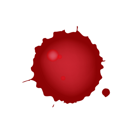 Realistic blood splatters. Red ink splatters