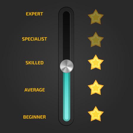 proficiency: Skill levels vector