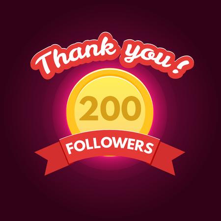 followers: Thank you followers Illustration
