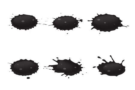 eroded: spilled oil Illustration