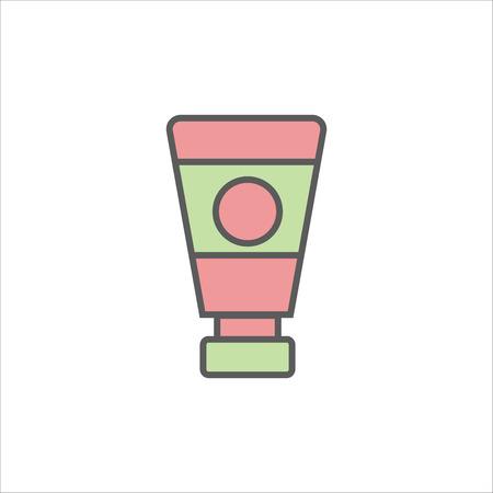 slips: Women lubricating gel or Female lubricant icon.