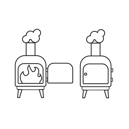 travel burner: Camping stove, Furnace travel, Tourist heater icon.