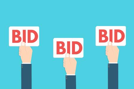 bid sign