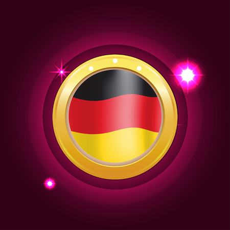 Made in Germany banner flag color label