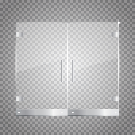 Transparent Glass Door Royalty Free Cliparts Vectors And Stock
