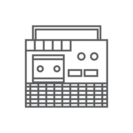 tape recorder: retro tape recorder icon