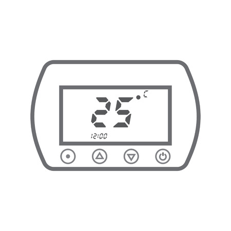 condo: Electronic thermostat with a screen. Under floor heating  temperature control. Illustration
