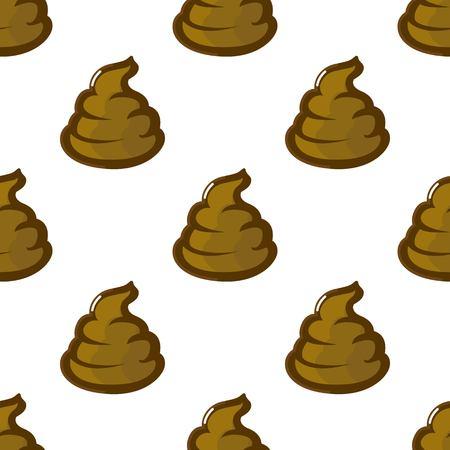 Poop, shit, turd seamless pattern. Vector illustration