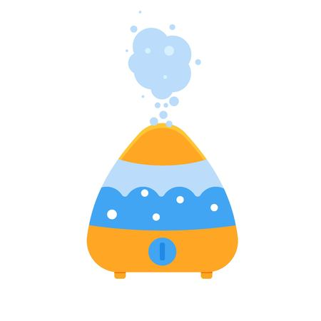 Ultrasonic humidifier domestic, Air purifier. Vector illustration.