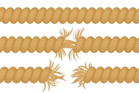 Gescheurd touw
