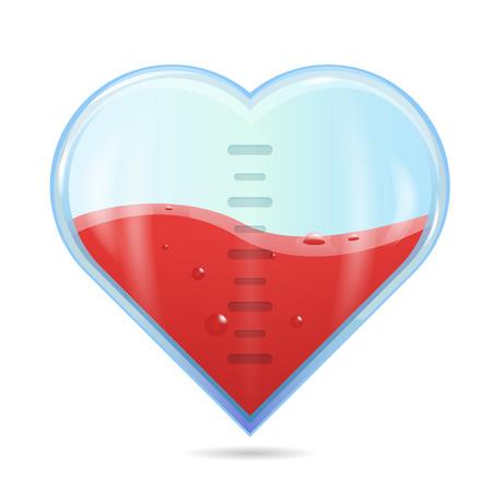 Heart rating, Love meter or gauge icon for Valentine's day card. Vector illustration. Illustration