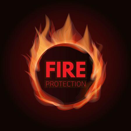 Fire protection system logo. Vector illustration. Illusztráció