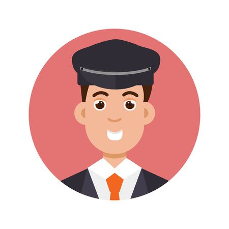 Limo driver character icon. Vector illustration. Illustration