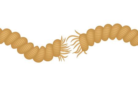 引き裂かれたロープ
