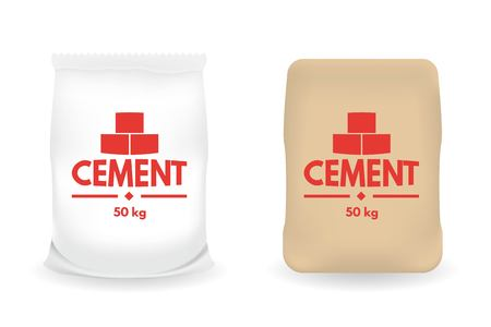 Paper sacks or Bags of Cement. Vector illustration. Illustration