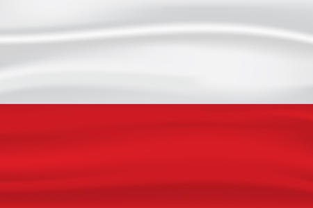 Poland flag Illustration