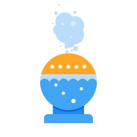 Ultrasonic humidifier domestic, Air purifier. Vector illustration.