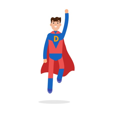 Father superheroes. Super Dad character. Vector illustration.
